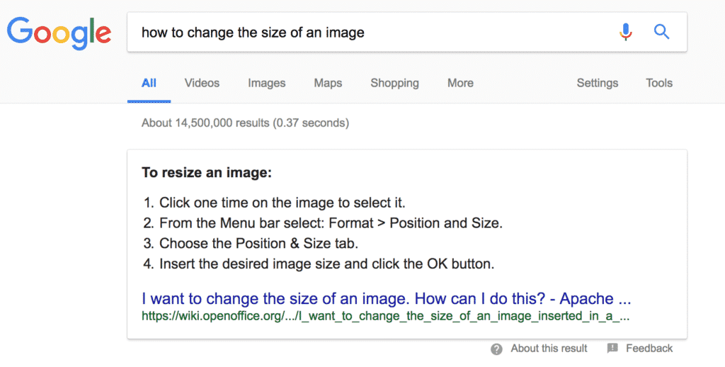 how to change the size of an image