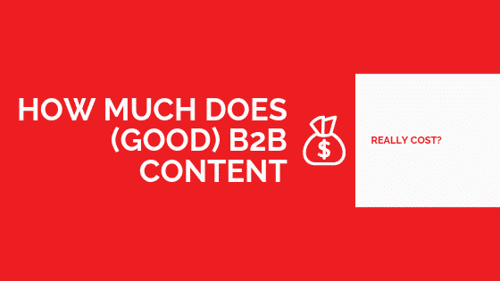 how much does content marketing cost?