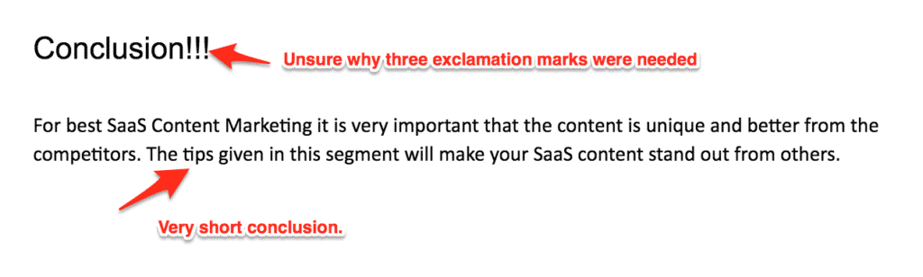 b2b conclusion