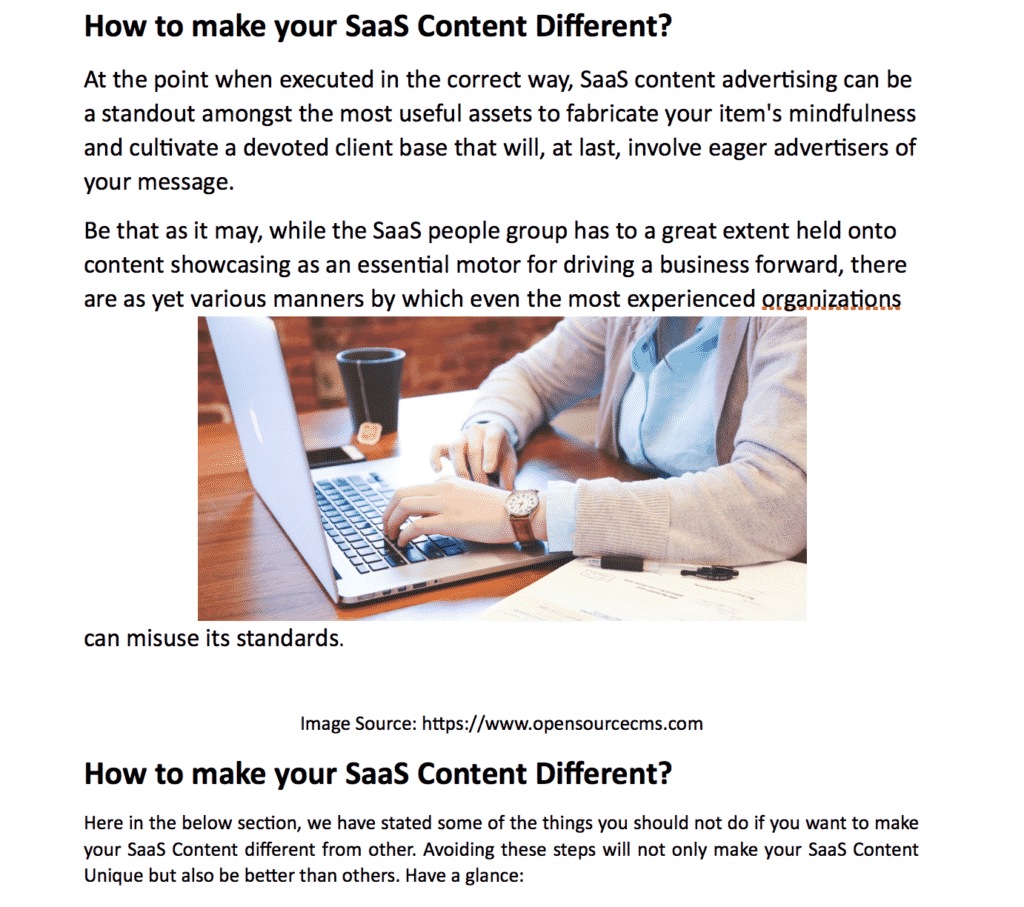 how to compete saas content